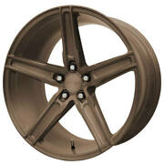 4ea 20 Staggered Verde Wheels V09 Spry Gloss Bronze Rimss43