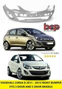 Vauxhall Corsa D Front Bumper 2011 - 2015 New Primed Oe Spec Ready To Paint