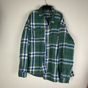 Duluth Trading Co Plaid Fleece Lined Jacket Mens Size 3xlt