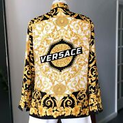 Versace Silk Shirt Gold Hibiscus Print Size L From 2019 Style Worn By Kane Brown