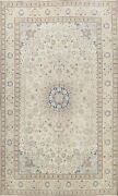 Floral Semi Antique Nain Handmade Area Rug Wool Oriental Evenly Low Pile 6x9 Ft
