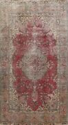 Floral Semi Antique Traditional Evenly Low Pile Handmade Area Rug Wool 6x10 Red
