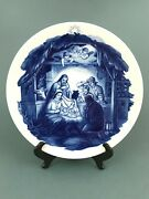 Antique Meissen Signed Nativity Jesus In Manger Mary Joseph Christmas Plate 10and039and039