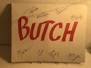 🔴 Butchandrsquos Baloney Bash Table Marker Autoandrsquod By Wisconsin Badgers Royalty 1/1 🔴