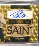 1/1 Superfractor Game Used/worn Saints Patch 2011 Topps Finest Drew Brees Auto