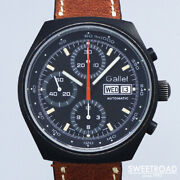 Gallet Self-winding Chronograph Cal.7750 Leather Stainless Men's Watch[b1105]