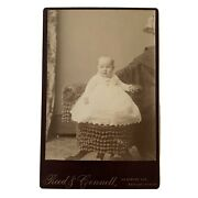 Antique Cabinet Card Photograph Hidden Mother Hat Beautiful Baby Los Angeles Ca