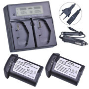 Set Battery Charger + 2 Batteries For Canon Lp-e4 1d X 1ds Mark Iii 1d Iv
