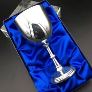 Silver Plate Goblet. Ideal For Christening. Free Engraving. Crescent Silver