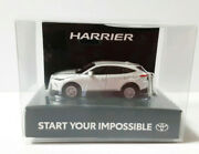 New Harrier Toyota Led Light Keychain White Pearl Model Car Store Limited