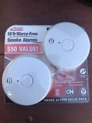 Kidde 10 Year Worry Free Smoke Alarms P30101l Value Pack Brand New