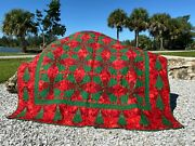 Merry Christmas Tree Handmade Quilt Xl Throw 66 X 67 Blanket Twin Full Bed