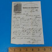 Vintage 1874 Signed By Henry Sears And Co Cutlery And Firearms Letter Ephemera