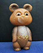 Vintage Antique Toy Soviet Bear Misha Mascot Ussr Olympic Games Moscow 1980 Rare