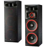 Pair Cerwin Vega Xls-215 Tower Speakers Dual 15 3-way 500w New Free Shipping