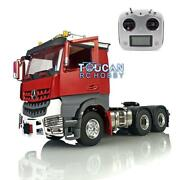 1/14 Metal 66 Lesu Tractor Truck Rc Chassis Radio Hercules Painted Actros Cabin