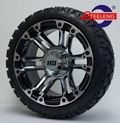 Golf Cart 14 And039rhinoand039 Wheels/rims And 20 Stinger All Terrain Tires Dot Rated