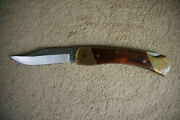 Schrade Uncle Henry Lock Blade Collectors Knife Leather Sheath And Diamond Usa