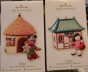 Hallmark 2007 Joy To The World Collection-six Countries-2 Ornaments Per Box