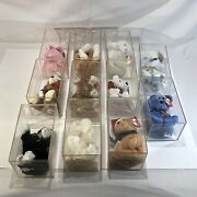 Ty 10 Beanie Babies Lot In Boxes - Great Condition - 1 Hawaiian Plush