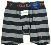 Polo Mens Traditional Leg Length Striped Boxer Brief Size S   A3