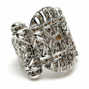 Solid 18k White Gold 2.15ct Pave Diamond Antique Ring Designer Jewelry Gift