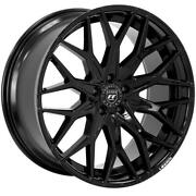 4ea 22 Staggered Lexani Wheels Morocco Full Gloss Black Flow Forged Rimss43