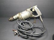 Vintage Craftsman Ball Bearing Electric Drill 107.1336 Working Antique Rare Tool
