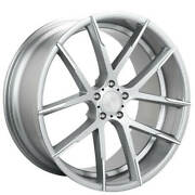 4ea 20 Staggered Lexani Wheels Stuttgart Silver With Machined Tips Rimss43