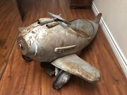 Airplane 1940s Murray Pursuit Steelcraft Pedal Car Metal Rare Unrestored