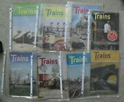 Lot Of 8 Different Vintage 1947 Trains Magazines