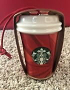 2014 Starbucks Holiday Ornament - Abstract Poinsettia Hot Cup