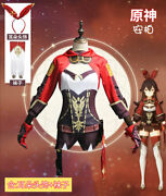 Anime Game Genshin Impact Amber Cosplay Costume Adult Full Set Party Carnival