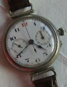 Lemania Cal 13ch Old And Rare Mono Pusher Chronograph Mens Wristwatch Load Manual