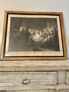 Death Bed Of Daniel Webster Engraving Rare 19th Century Joseph Ames.