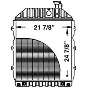 219782 Tractor Radiator - 24 13/16 X 22 1/8 X 2 11/16 Fits Ford/fits New Holland