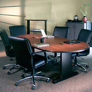6' - 10' Conference Table W/ Optional Power Data Modules, Multiple Finish Option