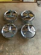 Mercedes Benz Star With Chrome Wheel Insert Fit All Mercedes Wheels Set Of 4 Pcs