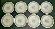 Vintage The French Saxon China Co 22k Gold Plates 6 Inch Plates Set Of 8 H4