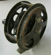Vintage 1935 Pflueger No.1555 Brass And039sal-troutand039 Fly Fishing Reel - Very Rare