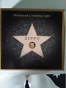 Zippo Hollywood's Leading Light Collectible Star Tin Complete W/ Keychain And Box