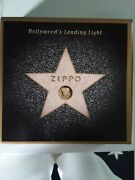 Zippo Hollywoodand039s Leading Light Collectible Star Tin Complete W/ Keychain And Box