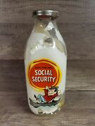 Vintage Coin Bank Start Your Own Social Security 1quart Bower Mfg.