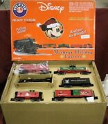 Very Rare - 2004 Mickeyand039s Christmas Express Lionel Train Set - Le1000 - Unopened