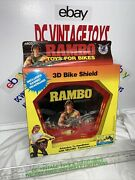 Vintage 1986 Rambo Toys For Bikes 3-d Bike Shield Includes Headband Stallone