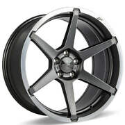4ea 20 Staggered Ace Alloy Wheels Aff06 Titanium With Machined Lip Rimss44