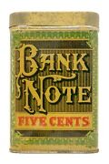 Rare 1920s Bank Note Litho 25 Humidor Cigar Tin In Excellent Condition