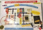 Elenco Snap Circuits Extreme Sc-750 Electronics Experiment Kit With Ac Adapter