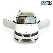 Saab 9-3 Convertible 2,0 Turbo Vector Arctic White My2009 1/18 Collectable