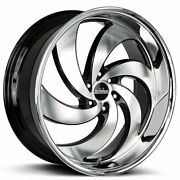 24 Strada Wheels Retro 6 Black With Machined Face And Ss Lip Rimss44